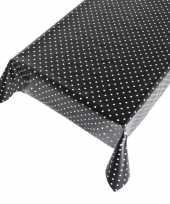 Vergelijk zwarte tafelkleden tafelzeilen stippen 140 x 245 cm rechthoekig prijs