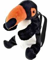 Vergelijk zwarte toekan vogel rugzak rugtas knuffels 32 cm knuffeldieren prijs